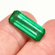 4.3Ct Colombian Emerald Octagon Collection Color Enhanced QMDa421