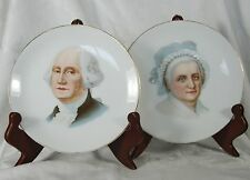 "Vintage George & Martha Washington Plates by J&C G.H.B. Co. ""Dayton"" Bavaria"