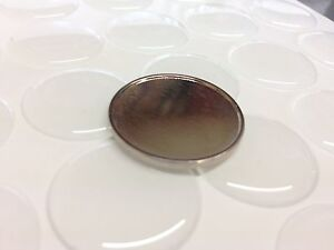 100 Magnetic Self Adhesive DIY Pin Badge Back Blank With Clear Domes 25mm