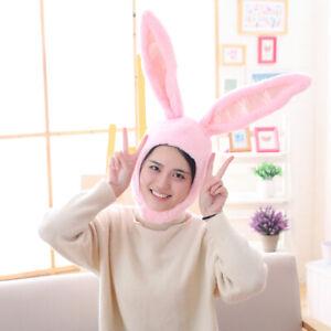 Cute Girl Hat Plush Rabbit Bunny Ears Hat Earflap Cap Head Warmer Photo Supply