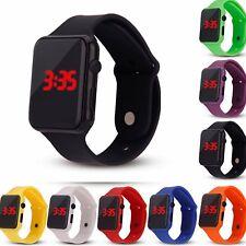 Digital LED Sports Watch Silicone Band Wrist Watches Men Children Fashion Watch