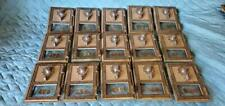 Vintage 1960 Brass Post Office Box Doors with Combo Lock