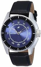 Fastrack 3089SL01 Black Magic Analog Blue Dial Men's Watch