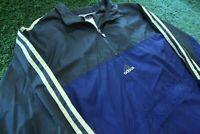 Vintage 90s Adidas Color Block Full Zip Windbreaker Jacket Blue Mens XL