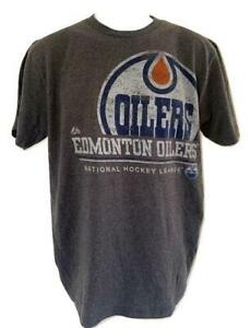 New Edmonton Oilers Youth Sizes S-M-L-XL Gray Shirt