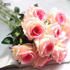 12 Colors Artificial Fake Silk Rose Flowers Bridal Wedding Beauty Decor