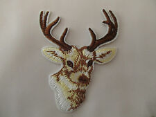 Deer Head Stag Head Iron on Applique Patch
