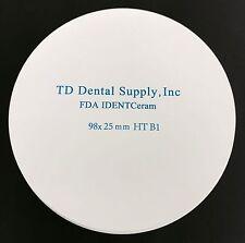 Single Shade HT Zirconia Disc (98.5 x 25mm) (HIGH TRANSLUCENCY)