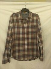 Tailor Vintage Authentic Indian Madras Long Sleeve Mens Button Down Shirt Large