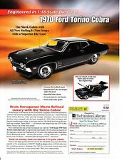 1970 FORD TORINO COBRA ~ NICE DIECAST CAR AD