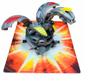 Bakugan Battle Brawlers Cyborg Helios Red Grey Haos 650G + Random Card Anime Toy