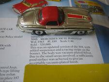 CORGI 304S MERCEDES 300SL 1961-63 PLAYWORN ORIGINAL CAR IN AGE WORN ORIGINAL BOX