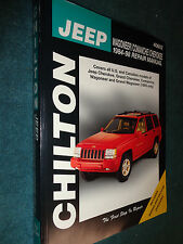 1984-1998 JEEP WAGONEER / COMANCHEE / CHEROKE SHOP MANUAL / SERVICE BOOK 99 98++