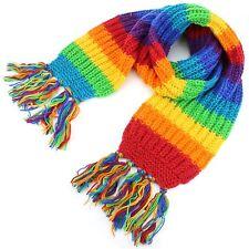 Sciarpa di lana ARCOBALENO Lavorato a Maglia Lavorato a Maglia lunga ampia trama grossa Caldo Scialle Wrap