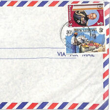 BT211 1980s Bermuda St Georges Commercial Registered Air Mail Cover {samwells}