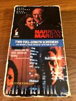 Double Screener Narrow Margin / King of New York VHS VCR Video Tape Movie Used