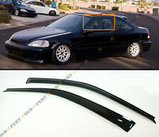 FOR 1996-2000 HONDA CIVIC COUPE & HATCHBACK SMOKE TINTED WINDOW VISOR RAIN GUARD