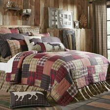 COUNTRY PRIMITIVE RUSTIC FARMHOUSE WYATT PATCHWORK QUILT COLLECTION VHC BRANDS