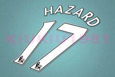 Chelsea Hazard #17 PREMIER LEAGUE 07-13 White Name/Number Set