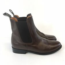 Toggi Size UK7 Brown Leather Ankle Pull On Chelsea Equestrian Booties Boots