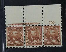CKStamps: US Stamps Collection Scott#270 Strip Mint 2NH 1H OG
