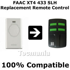 FAAC XT2 / XT4 433 SLH Replacement Remote Control Garage Gate Fob 433.92 MHz