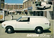 Datsun Nissan Sunny 120Y Van 1976-78 UK Market Single Sheet Sales Brochure