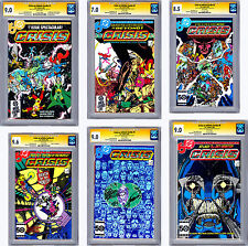 CRISIS ON INFINITE EARTHS #1-12 CGC-SS VF-NM *ALL 12 SIGNED* BY WOLFMAN & PEREZ