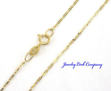 "14K Solid Yellow Gold Pinsetta Chain 16"" 1gram Italian"
