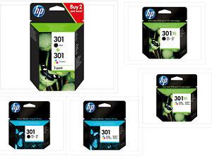 HP TINTE PATRONEN 301 / 301XL Deskjet 1050 2050 ENVY 4500 5530 Officejet 2620