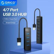 Mini USB3.0 HUB 4/7 Ports USB 3.0 Splitter High Speed OTG Adapter + Type C Power