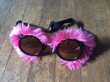 EUC Furry Cyber Goth Goggles Neon PINK cosplay costume anime steampunk burner