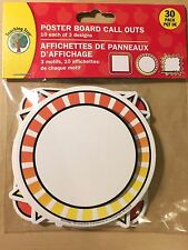 30 Pack of Poster Board / Bulletin Board Call out Frames - Yellow and Orange
