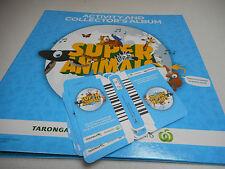 Woolworths Super Animals Album Brand NEW with 40 Woolworths UNUSED Cards / 10pks