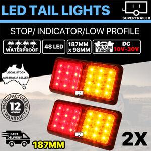 2x Trailer lights 24 LED STOP TAIL INDICATOR REFLECTOR TRUCK CAMPER LIGHT 10-30V