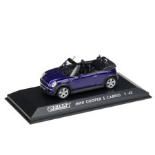 WELLY Miniature 1:43 Blue Mini Cooper S Cabrio Diecast Model W/Case as Gift Toy