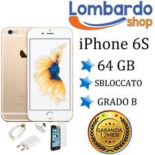 APPLE IPHONE 6S 64GB GRADE B GOLD ORIGINAL REGENERATED RECONDITIONED SECOND HAND