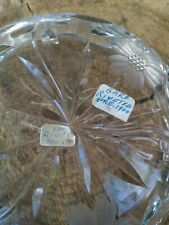Rare Pre 1900's Riveted Stapled Repaired Crystal Dish Very Collectible Repair pr