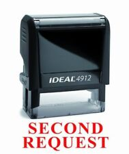 NEW Trodat Best Selling Red Office Self-Inking Stock Rubber Stamp - SECOND REQUE