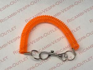 Portachiavi Vespa Piaggio Px Et3 A Molla Spirale Colore arancio Fluorescente\