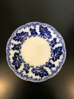 """JOHNSON BROTHERS NORMANDY FLOW BLUE 9"""" PLATE Gold Accent Excellent!"""