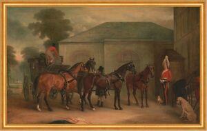 The Drag of Sir Watkin Williams Wynn John Ferneley Pferde B A2 00065 Gerahmt