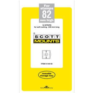 Scott/Prinz Pre-Cut Strips 240mm Long Stamp Mounts 240x82 #944 Black