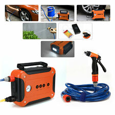 60W 80PSI High Pressure Car Washer Jump Start Power Pump Tire inflation LED Set