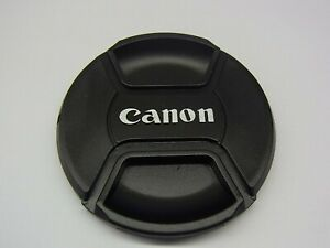 72mm Front Lens Cap Center Pinch Snap on for Canon Camera Plastic OEM
