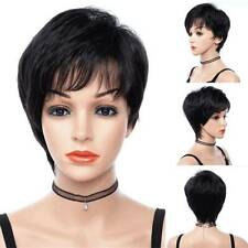 Womens Sexy Short Straight Wigs Hair Heat Resistant Pixie Bob Style Natural Wigs