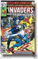 1978 Frankenstein fights Captain America Comic Book hand signed STAN LEE seal