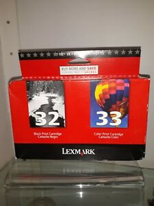 Lexmark #32/#33 Combo Pack Ink Cartridges - LEX18C0532/ lot of 2 packages