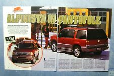 AUTO996-RITAGLIO/CLIPPING/NEWS-1996-MERCURY MOUNTAINEER V8 AWD- 2 fogli