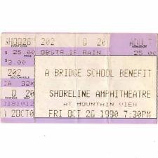 NEIL YOUNG & ELVIS COSTELLO Concert Ticket Stub SHORELINE 10/26/90 BRIDGE SCHOOL